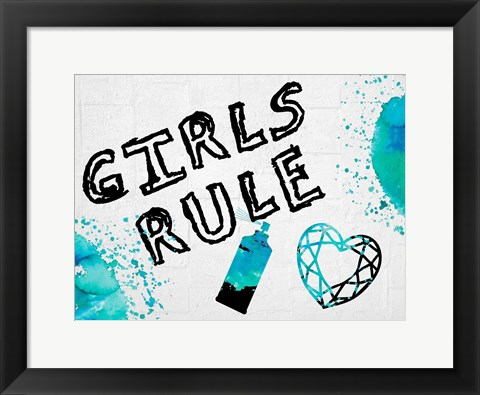 Framed Girls Rule 2 Print