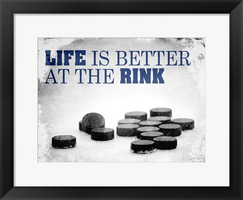 Framed At The Rink Print