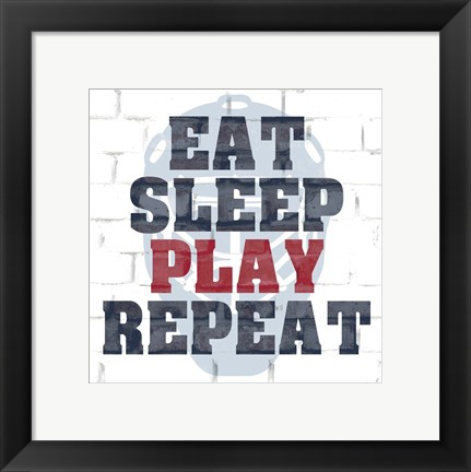 Framed Play Repeat Print