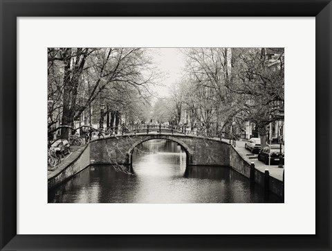 Framed Amsterdam Canal Print