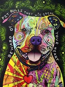 Beware of Pitbulls Artist Proof 20/25