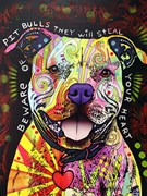 Beware of Pitbulls Artist Proof 21/25