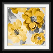 Yellow and Gray Floral Delicate I
