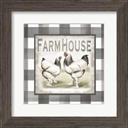 Buffalo Check Farm House Chickens Neutral I