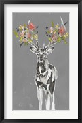 Deer & Flowers II