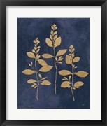 Botanical Study IV Gold Navy
