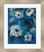 Loose Flowers on Blue II