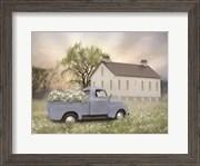 Blue Ford at Barn