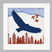 Patriotic Woodland Eagle