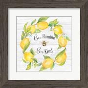Lemons & Bees Sentiment  woodgrain I
