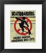 Skateboarders (postercard)