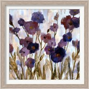 Abstracted Florals In Purple