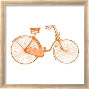 Orange On White Bicycle