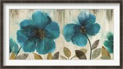 Teal Flowers - Oversize