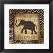 African Wild Elephant Border