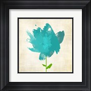 Brush Stroke Flowers Blue