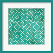 Tan on Teal Pattern