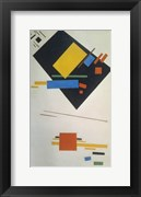 Suprematist painting (with black trapezium and red square), 1915