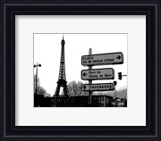Photograph of street signs in Paris