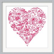 Pink Flower Love Heart