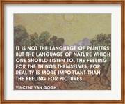 Language of Painters - Van Gogh Quote