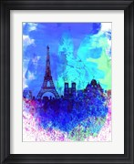 Paris Watercolor Skyline