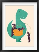 TRex and The Basketful of Wiener Dogs