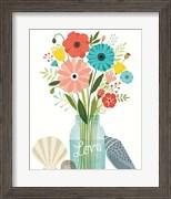 Seaside Bouquet II Mason Jar