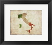 Map with Flag Overlay Italy
