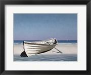 White Boat On Beach