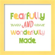 Fearfully and Wonderfully Made - Pink and Green