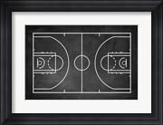 Basketball Court Chalkboard Background