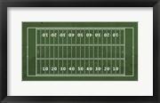 American Football Field Green