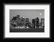 Boston at night (Black And White)