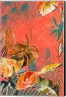 Framed Orange Palm Selva II