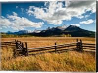 Framed Dallas Divide, Last Dollar Ranch, Colorado