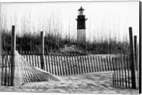Framed Tybee Island Lighthouse, Savannah, Georgia (BW)