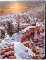 Framed Sunrise Point After Fresh Snowfall At Bryce Canyon National Park