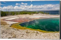Framed Abyss Pool, West Thumb Geyser Basin, Wyoming