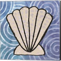 Framed Whimsy Coastal Clam Shell