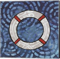 Framed Whimsy Coastal Ring Buoy