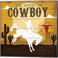 Framed American Cowboy