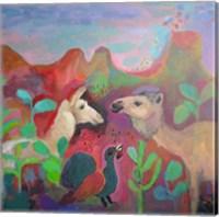 Framed Camel and the Llama