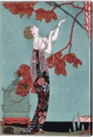 Framed Fashion Illustration, 1914