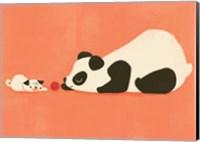 Framed Pug and the Panda