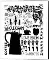 Framed Culinary Love 2 (black & white)