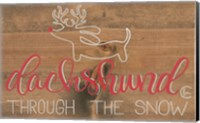 Framed Dachshund in the Snow
