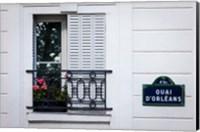 Framed Quai d'Orleans