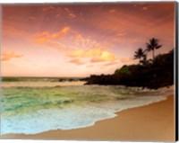 Framed North Shore Dawn, Oahu
