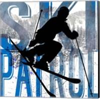 Framed Extreme Skier Word Collage Patrol